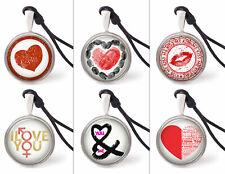 Vietguild's Heart Love Design Necklace Pendants Pewter Silver