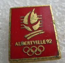 Pin's Jeux olympique JO Albertville Couleur Rouge #958