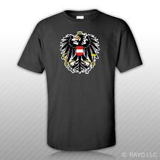Austrian Coat of Arms T-Shirt Tee Shirt Free Sticker Austria flag AUT AT