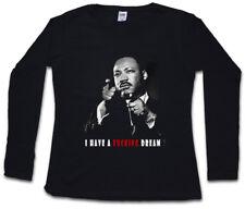 I HAVE A FUCKING DREAM DAMEN LANGARM T-SHIRT Martin Luther King Black Panthers