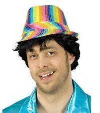 Disco Pailletten Glitter Hut Mütze Kappe Kostüm Party Regenbogen Kleid Hippie