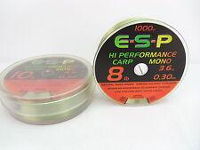 ESP BOBINE 1000 M NYLON MONO CARP VERT PRIX MAGASIN 18,50 €