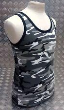 100% Cotton MTP Urban / Winter Camo Sleeveless Vest Singlet Tank Top All Sizes