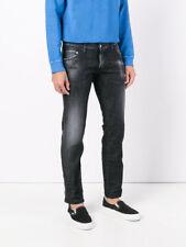 bb4239 Dsquared2 pantaloni jeans nero uomo men's black trousers