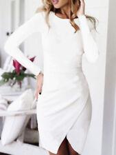 NWT Designer Asos WHITE Made in Europe Wrap Skirt DRESS in Longer length UK 6-16