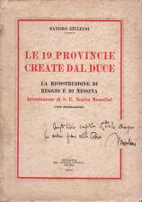 Giuliani Le 19 Provincie create dal Duce 1928 Il Popolo