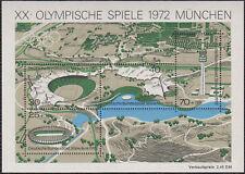 Germany Souvenir Sheet  1972 Summer Olympics   #B489
