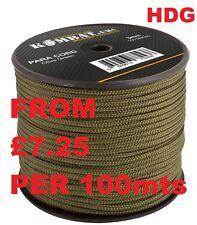 KOMBAT UK PARACORD PARACHUTE GREEN 15M 25M 50M 100M HEAVY DUTY 3mm Bivi TENT SAS