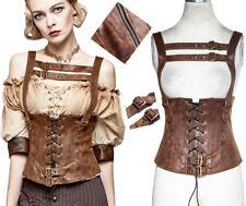 Top haut corset gothique punk lolita steampunk vintage sangles laçage Punkrave C