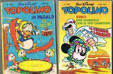 2 TOPOLINO LIBRETTO N.1406 1982 N.1664 1987 - WALT DISNEY