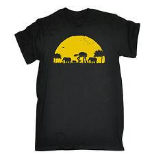 ELEPHANT atat Sunset T-Shirt Tee-Animal Drôle Geek anniversaire Fashion Cadeau 123 T