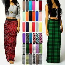 Womens ladies gypsy long JERSEY bodycon maxi dress ladies SKIRT size 8-20 JrsysK