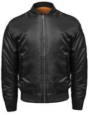 FashionOutfit Men's Classic Basic Air Force Flight Zipper Details Bomber Jacket