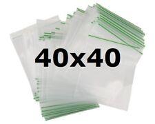 1000 X   40 x 40mm HEAVY DUTY SMALL SEALY GRIP ZIP LOCK SEAL GUMMY BAGS BAGGIES