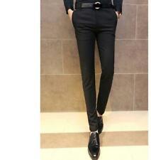 korean Mens Skinny Casual Dress formal pencil Thin Tights Pants