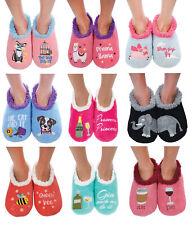 Ladies Pairable Snoozies Fleece Slippers Socks