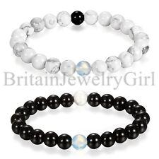 Hot Fashion 8MM Beads Cuff Charm Men Jewelry Bracelet Elastic Bangle Buddha Mala
