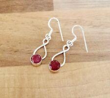 925 Sterling Silver - Semi-Precious Oval Gemstone Hook Earrings - Set-AA5