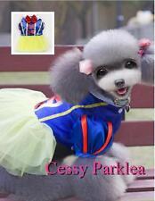 Cute Pet Dog  Puppy Cat Snow White Disney Cartoon Character Costume XS-XL