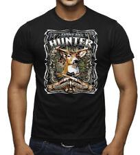 Men's American Hunter Black T Shirt Mossy Deer Wildlife Hunting Animal Beast USA