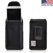 Turtleback Samsung Galaxy S4 Vertical Leather Pouch Holster Black Belt Clip Case