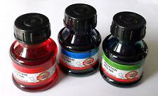 Koh-I-Noor Tinte Füllertinte rot blau grün schwarz 50ml Füllfederhalter 1L=50€