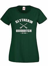 T-shirt Maglietta donna J1701 Slytherin Quidditch Est.1092 Harry Potter
