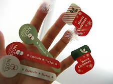 Navidad embalaje pegatinas Nieve Muñecos De Nieve calcetines pastel de Navidad Regalo Decoración pegatina