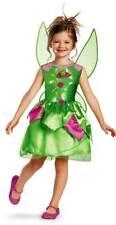 Licensed Disney Fairies Tinker Bell Child Girls Classic Halloween Costume