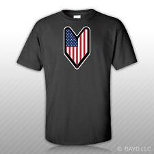 American USDM Driver Badge T-Shirt Tee Shirt Free Sticker wakaba leaf soshinoya