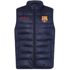 FC Barcelona Official Football Gift Mens Padded Body Warmer Jacket Gilet