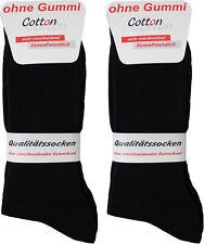 10 Paar Herren Diabetiker Socken schwarz 100% Baumwolle ohne Naht + ohne Gummi