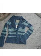 HOLLISTER TEAL STRIPE Cardigan Sweater top