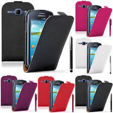 Etui Cuir PU Vrai Pour Samsung Galaxy Core LTE 4G SM-G386F