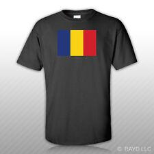 Romanian Flag T-Shirt Tee Shirt Free Sticker Romania ROU RO