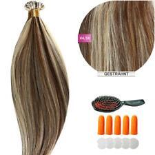 Keratin Bonding (#4/24 Gesträhnt) Hair Extensions 100% Echthaar Haarverlängerung
