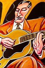 DJANGO REINHARDT PRINT poster gypsy hot club jazz archtop guitar anthology cd