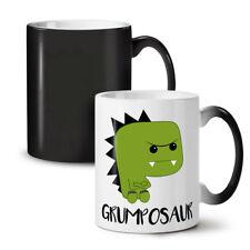 Gruñón Dinosaurio nuevo cambio de color té café taza 11 OZ (approx. 311.84 g) | wellcoda