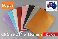 60pcs Metallic Colour Envelope Party Invitation 8 colours C6 114x162mm