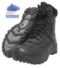 Military boots black ,leather rubber sole, assault, combat , cadet boots ambush