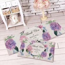 Non Slip Bathroom Rugs Doormats Floor Mat Carpet Absorbent Flannel Purple Flower