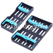 Dental Cassette Sterilization Plastic Rack Tray Holder 5/10 Instruments Tray Box