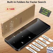 "2.4"" Bluetooth MP3 MP4 Player Flac 16GB HIFI Touch Music Video FM Radio Recorder"