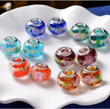 New Fashion Lampwork Glass Beads Fit European Charms DIY Bracelet Gift GSB308