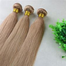 27 Honey Blonde Hair Bundles Silk Straight Human Hair Extensions Weave one piece