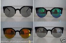 Runde Sonnenbrille verschiedene Farben Retro Hippie Nerd Brille Nickelbrille