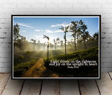 Christian Inspirational Poster - Psalms 97:11 - Shine Rejoice Joy ALL SIZES