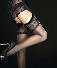 Bas sexy nylon noir pour porte-jarretelles femme FIORE Mirage 20 den t2 t3 t4