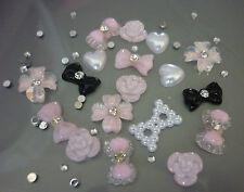 3D Nail Art Bows Flowers Hearts Kawaii Nail Art Decoration - NEW 24 PIECES