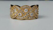Diamonique Braided Design Band Ring 14k Clad